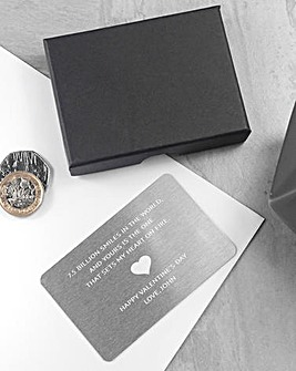 Personalised Love Note Metal Insert