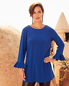 Joanna Hope Cobalt Frill Sleeve Tunic