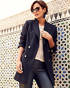 Joanna Hope Petite Navy Tailored Blazer
