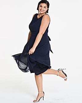 Joanna Hope Navy Chiffon Dress