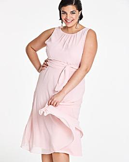 Joanna Hope Blush Chiffon Dress