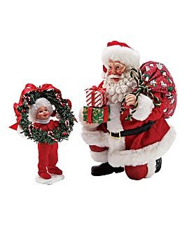 Vintage Style Peek-a-boo Santa Figures