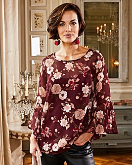 Joanna Hope Floral Print Blouse