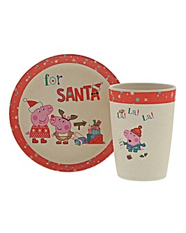 Peppa Pig Christmas Eve Bamboo Set