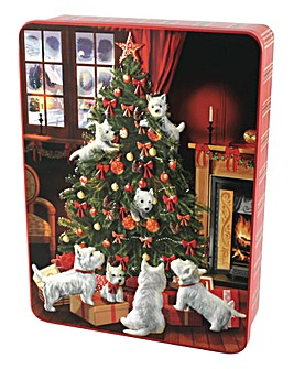 Scottie Dogs Embossed Shortbread Tin