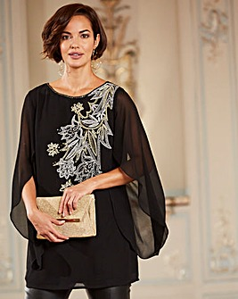 Joanna Hope Embroidered Sequin Tunic