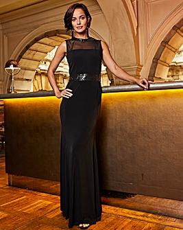 Joanna Hope Sequin Neck Maxi Dress