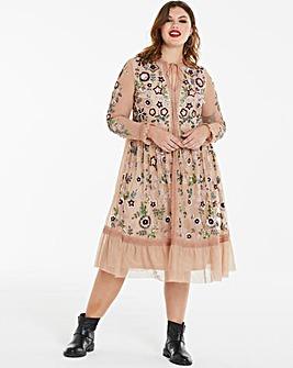 Joanna Hope Embellished Midi Dress