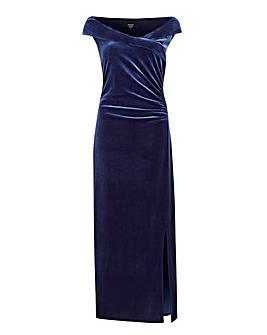Joanna Hope Velvet Bardot Maxi Dress