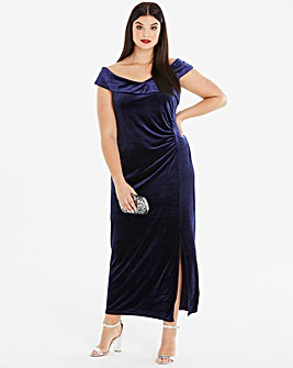 Joanna Hope Velvet Bardot Maxi Dress