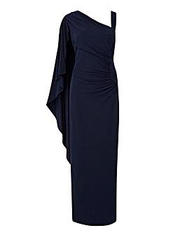 Joanna Hope Drape Shoulder Maxi Dress