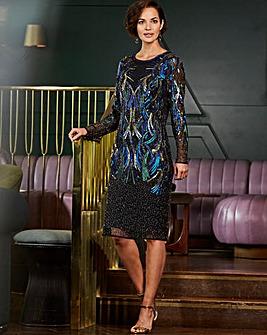 Joanna Hope All Over Sequin Shift Dress