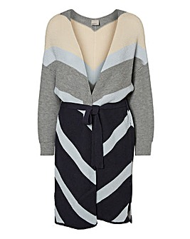 Vero Moda Striped Long Sleeve Cardigan