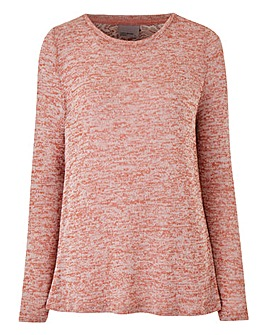 Vero Moda Almond Long Sleeve Open Neck Jumper