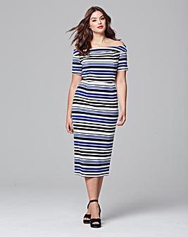 Lovedrobe Bardot Stripe Dress