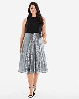 Little Mistress Sequin Midi Skirt