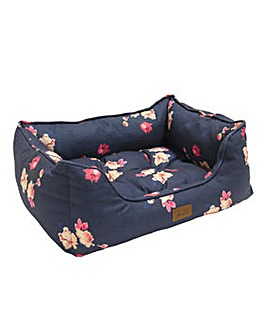 Joules Floral Print Pet Bed Large