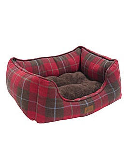 Joules Tweed Pet Box Bed Large