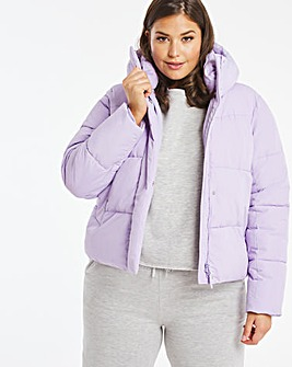 Lilac Short Padded Duvet Coat