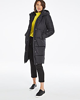 Black Long Padded Duvet Coat