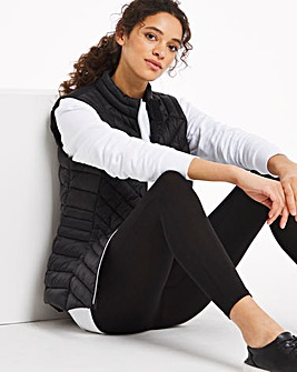 Black Lightweight Padded Gilet with Recycled Wadding