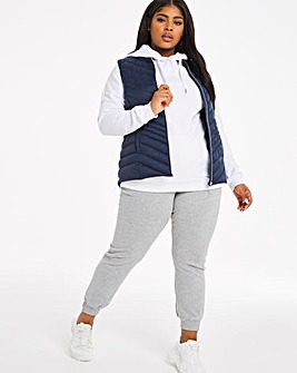 Navy Lightweight Padded Gilet with Recycled Wadding