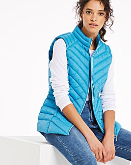Aqua Lightweight Padded Gilet with Recycled Wadding