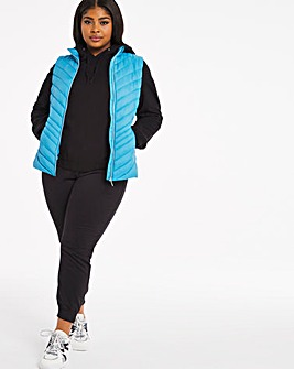 Aqua Lightweight Puffer Gilet with Recycled Padding