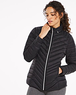 Black Lightweight Short Puffer Jacket