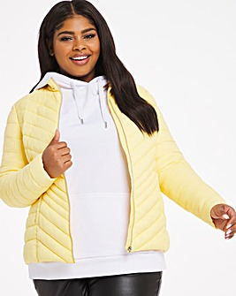 Lemon Lightweight Short Puffer Jacket With Recycled Padding