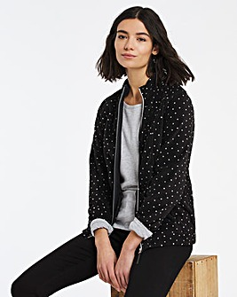 Mono Spot Print Fleece Jacket