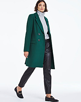 Dark Green Premium Double Breasted Wool Coat
