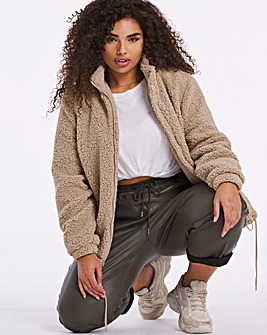 Beige Teddy Fleece Jacket
