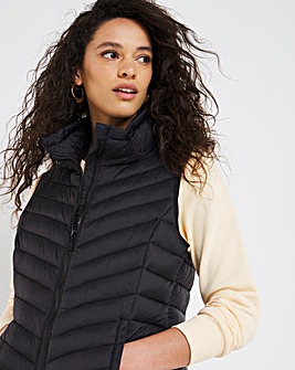 Black Lightweight Padded Gilet with Recycled Padding