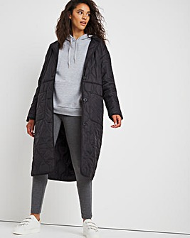 Lightweight Quilted Lining Jacket With Detachable Hood