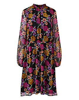 Lovedrobe Keyhole Neck Floral Print Dress