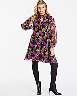 Lovedrobe Keyhole Neck Floral Dress