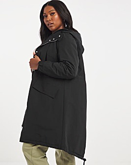 Water Resistant Parka with Fleece Lined Inner