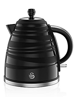 Swan 1.7Litre Twist Jug Black Kettle