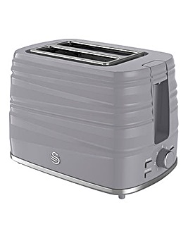 Swan Twist 2 Slice Grey Toaster
