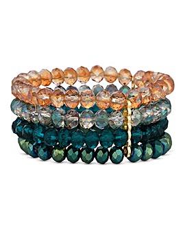 Mood Beaded Multi Row Bracelet