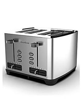 Drew&Cole 4 Slice Chrome Toaster