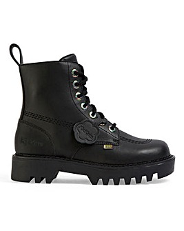 Kickers Lace Up Leather Boots