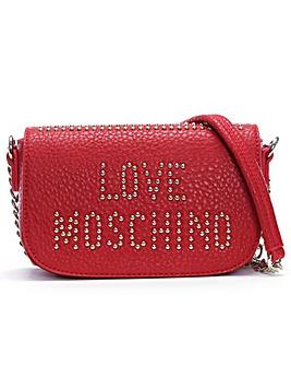 Love Moschino Studded Logo Cross-Body