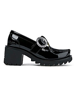 Kickers Kilo T-Bar Buckle Shoes Standard D Fit