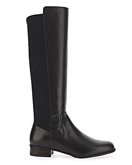 Karen Millen Olivia Leather High Leg Boots Standard D Fit
