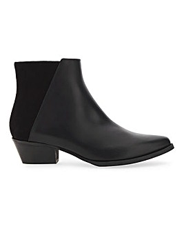 Karen Millen Alice Tone Leather Ankle Boots Standard D Fit