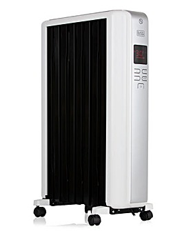 Black + Decker 2kW Digital Oil Filled Radiator With Timer
