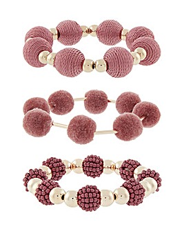 Accessorize Pom Pom Stretch Pack