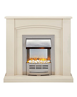 Beldray Cream Electric Fire Suite